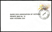 Lot 2739:Sassafras Gully: - WWW #30 'SASSAFRAS GULLY/12FE92/VIC-AUST' on 45c on cover.  PO 1/6/1901; LPO 27/10/1993.
