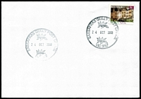 Lot 2742:Sassafras Gully: - WWW #60 37mm double-circle 'SASSAFRAS GULLY POST OFFICE/[leaves]/24OCT2008/[leaves]/VIC 3787' on 55c on unaddressed cover.  PO 1/6/1901; LPO 27/10/1993.