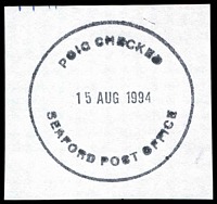 Lot 17214:Seaford: - WWW #275 'POIC CHECKED/15AUG1994/SEAFORD POST OFFICE' 2l. [The first offered by us - Only recorded date.]  PO 6/3/1914; LPO 4/5/1998.