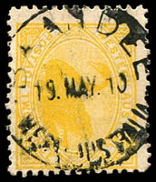 Lot 3522:Baandee: - 'BAANDEE/19MAY10/WESTN AUSTRALIA' on 2d yellow Swan.  PO 5/7/1909; closed 27/3/1975.