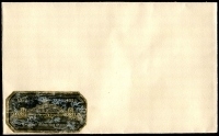 Lot 919:1932 Sydney Harbour Bridge: black/gold foil adhesive label (a little rubbed) on plain envelope.
