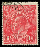 Lot 398:1½d Red Die I - BW #89(24)k [24R21] Break in bottom frame under PE of PENCE, Cat $25.