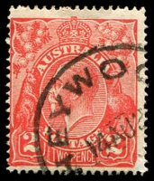 Lot 451:2d Red Die I - [10L55] Thick protruding BLC and spot in left frame in centre of upper projecting point - State II shaved BRC