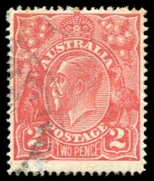 Lot 460:2d Red Die I - [13R16] Dot on white oval under GE of POSTAGE.