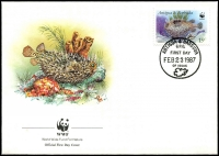 Lot 19746 [2 of 4]:1987 Marine Life SG #1077,1079,1081-2 on WWF FDCS unaddressed. (4)