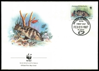 Lot 19746 [1 of 4]:1987 Marine Life SG #1077,1079,1081-2 on WWF FDCS unaddressed. (4)