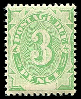 Lot 654:1902 Converted NSW Plates BW #D11 4d emerald P11½-12x11½, touch of toning on reverse, Cat $40.