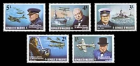 Lot 3881 [2 of 2]:1974 Churchill SG #535-43 set of 8 & M/S, Cat £33.
