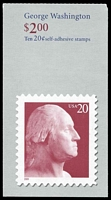 Lot 25993:2001 $2.00 George Washington Sc #BK281A 20c red, P#P2.