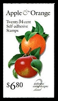 Lot 25994:2001 $6.80 Apple & Orange Sc #BK284A 34c multicolour, combination panes, Cat $15.
